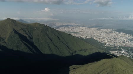 View of the city and mountains. Andes