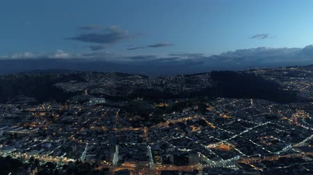 equador : View of the city and mountains. Night