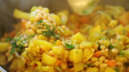 vejetaryen : Closeup of mixing vegetable dish sabzi