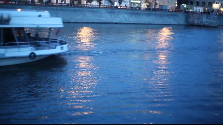 moscow night : Night Moscow river  Stock Footage