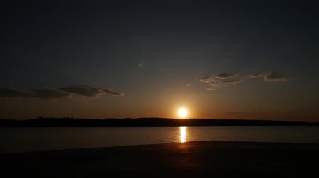 Amazing view at lake in Ukraine Ternopil awesome and beautiful warm sunset.
