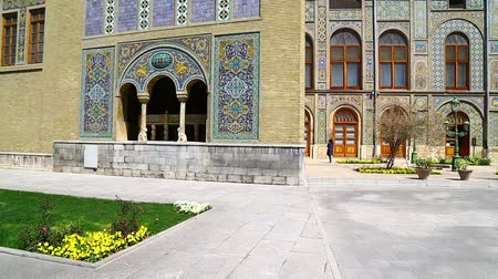 reconstructed : in iran antique Golestan palace gate and garden eritage old and historical place