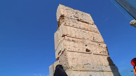 persie : Persepolis in Iran near the old ruins destination historical monuments and ruin Dostupné videozáznamy