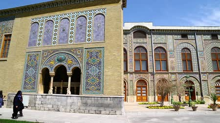 çini : in iran antique Golestan palace gate and garden eritage old and historical place