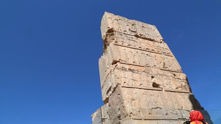 persie : iran persepolis ruins in the old historical monuments and ruin destination