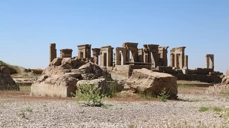 yazd : iran persepolis ruins in the old historical monuments and ruin destination