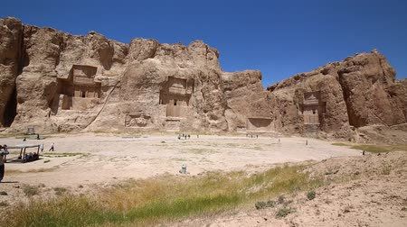 historical building : iran persepolis ruins in the old historical monuments and ruin destination