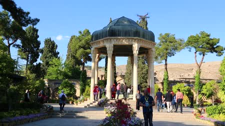 poeta : in iran grave of hafez persian poet and antiqur eritage lots of tourist