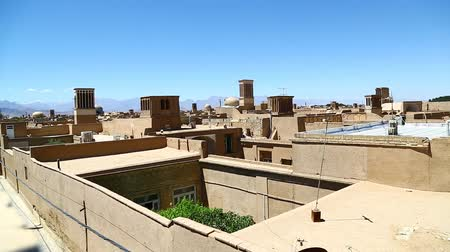 yazd : iran in the roof from Yazd antique construction and history