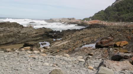 garden route : South africa ocean Tsitsikamma nature reserve and rocks