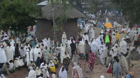 kmenový : ETHIOPIA, LALIBELA-CIRCA JANUARY 2018 - unidentified people in the genna celebration Dostupné videozáznamy