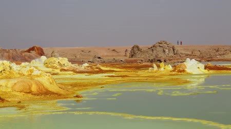 potash : in ethiopia africa the volcanic depression of dallol