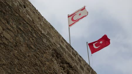 hatred : in the north of cyprus the waving flag in the sky