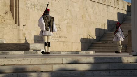 элита : GREECE, ATHENS-CIRCA APRIL 2018 - unidentified people and cerimonial parliament guard