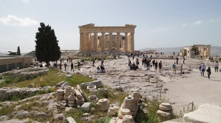 archeologie : in athene greece the antique acropolis temple and classical history ruins