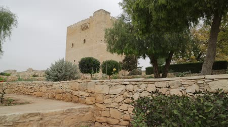 mediaeval : in cyprus the antique castle of kolossi historical palce and defense Stock Footage