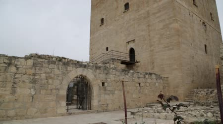 architectural heritage : in cyprus the antique castle of kolossi historical palce and defense Stock Footage