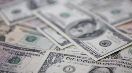 us banknotes : blurred dollar money like concept of success prosperity and business Stock Footage