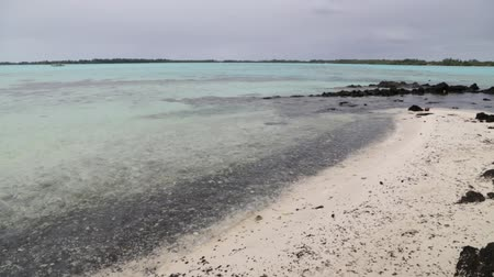 polinesia francesa : in polynesia rangiroa the pink sands of the coastline like paradise concept and relax.
