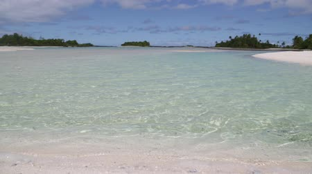 pacific islands : in polynesia rangiroa the pink sands of the coastline like paradise concept and relax.