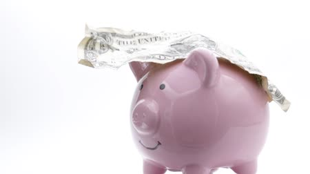 failures : piggy bank like concept of money and investment Stock Footage