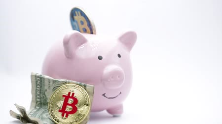 kumbara : piggy bank and bitcoin like concept of money and investment