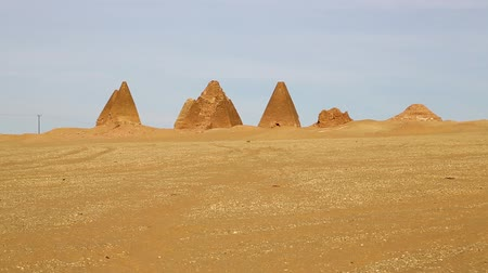 pustý : in africa sudan napata karima the antique pyramids of the black pharaohs in the middle of the desert