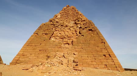 nílus : in africa sudan napata karima the antique pyramids of the black pharaohs in the middle of the desert