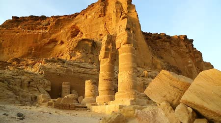 ações : in africa sudan musawwarat es sufra the antique temple of the black pharaohs in the middle of the desert