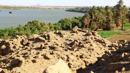 nílus : in africa sudan kerma the four cataract of the nile and nature near the river
