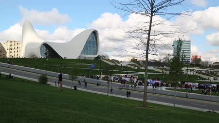 oyma : in azerbaijan baku the view of the art center museum modern buildings abstract concept