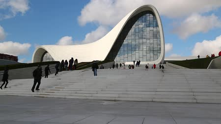mesquita : in azerbaijan baku the view of the art center museum modern buildings abstract concept