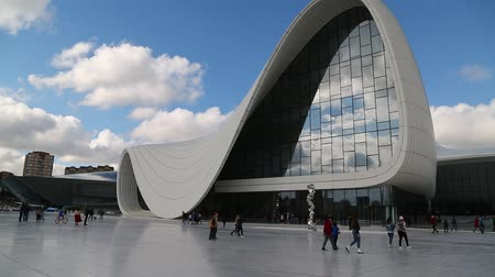in azerbaijan baku the view of the art center museum modern buildings abstract concept