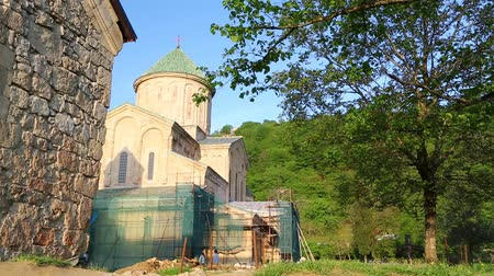 kaukázus : in georgia ice cream monastery the antique heritage of caucasian historical land protect by unnesco
