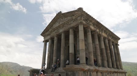 řek : ARMENIA, GARNI-CIRCA MAY 2019 - unidentified people near the antique temple