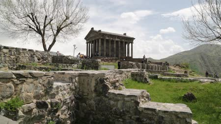 ARMENIA, GARNI-CIRCA MAY 2019 - unidentified people near the antique temple