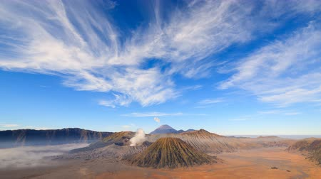 indonesia : 4K Timelapse Of Bromo volcano, East Java, Indonesia Stock Footage