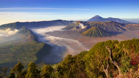 indonesia : 4K Timelapse of Bromo volcano at sunrise,Tengger Semeru national park, East Java, Indonesia