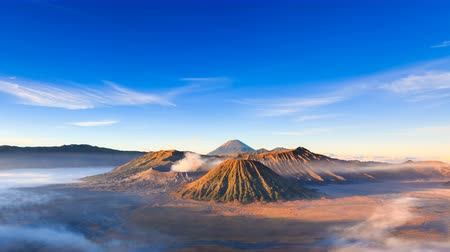 indonesia : 4K Timelapse of Bromo volcano at sunrise, East Java, Indonesia