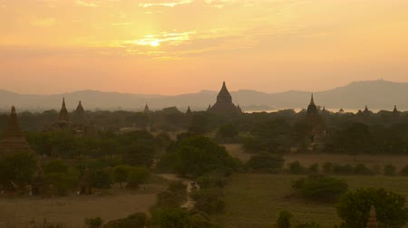 shwezigon : The Horse car in the plain of Bagan at sunset, Bagan, Myanmar