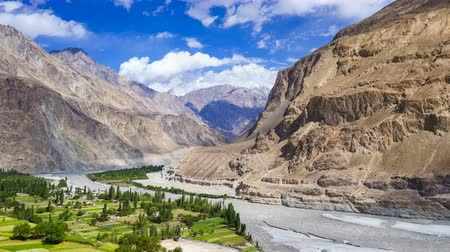 gilgit baltistan : 4K Timelapse of Turtuk village, Diskit, Jammu and Kashmir, India