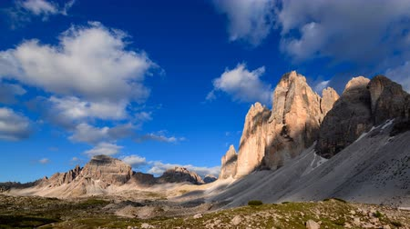 tre : 4K Timelapse of Tre Cime mountain at sunset, Dolomites, Italy