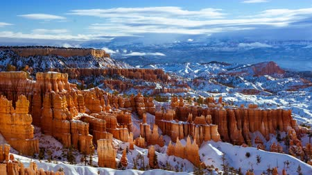 sudoeste : 4K Timelapse Bryce Canyon National Park in Winter, Utah, USA