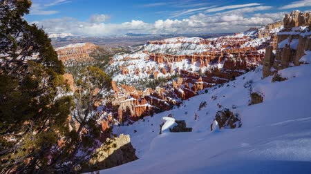 sudoeste : 4K Timelapse of Bryce Canyon National Park in Winter, Utah, USA