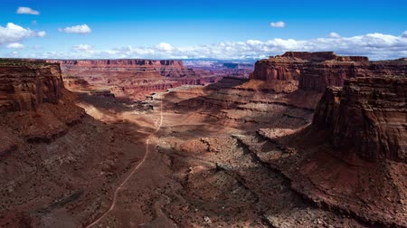 плато : 4K Timelapse of Canyonlands National Park, Moab, Utah, USA Стоковые видеозаписи