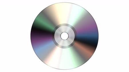 compact disc : Single disc cd dvd isolated on white background.