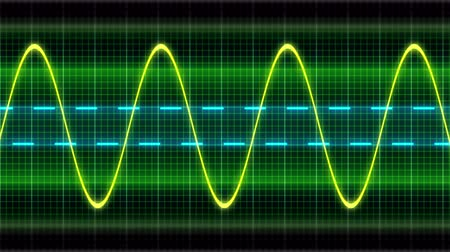 imagem digital gerada : Seamless looping animation oscillogram sine waves