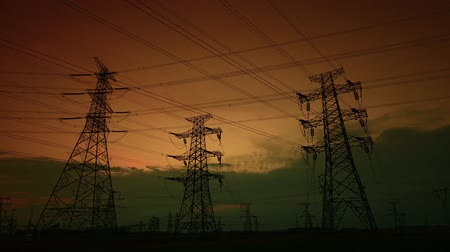 The electric tower at sunset, the passage of time