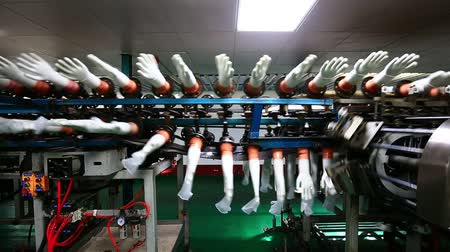 Gloves factory production workshop and rotating machinery