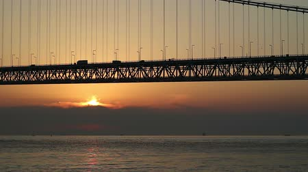 akashi strait : Akashi Strait Bridge of dusk